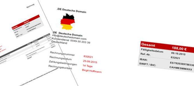 vorsicht bei rechnungen von de deutsche domain. Black Bedroom Furniture Sets. Home Design Ideas